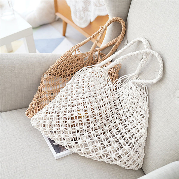 Woven Crossbody Shoulder Handbag