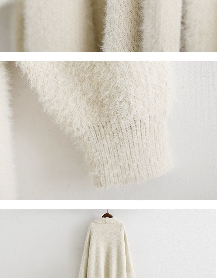 Long  Cashmere Cardigan Sweater