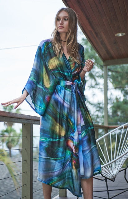 Chiffon Robe Beach Cover-Up