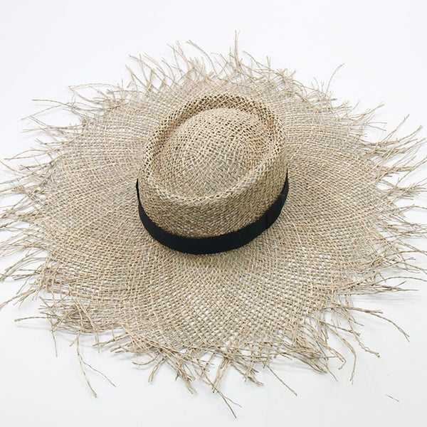 Wide Brim Sun Hat Frayed