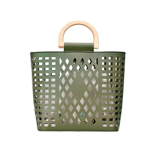 Oversized Hollow Out Tote Handbag
