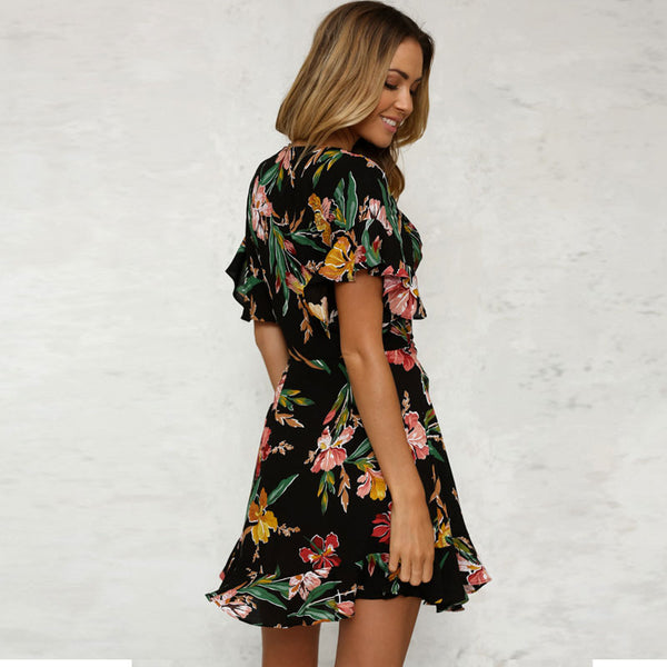 Flirty Floral Mini Dress