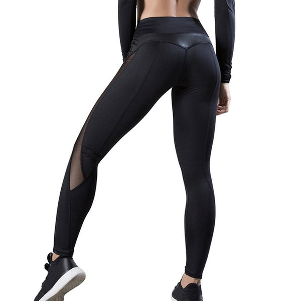 High Waist Leggings - Sparkly or Sheer Panels