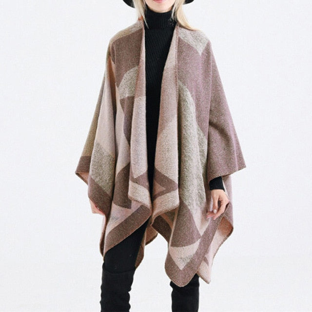 Boho Geometric Oversized Shawl