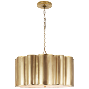 Markos Large Hanging Shade in Natural Brass