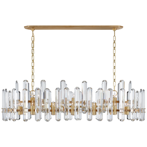 Bonnington Large Linear Chandelier - Luxury Lighting By Greige