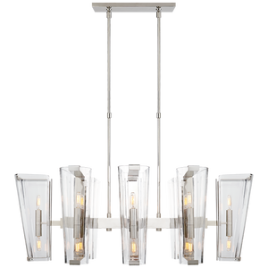 Alpine Medium Linear Chandelier - Luxury Lighting By Greige