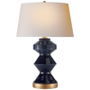 Weller Zig-Zag Table Lamp in Denim with Natural Paper Shade