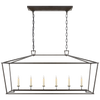 Darlana Large Linear Lantern - Luxury Lighting By Greige