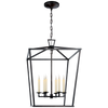 Darlana Large Lantern - Luxury Lighting By Greige
