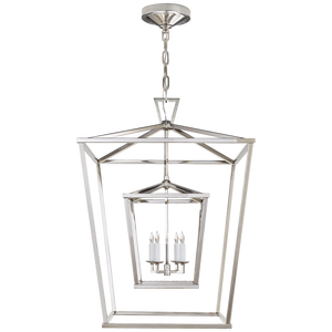 Darlana Large Double Cage Lantern - Luxury Lighting By Greige