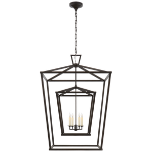 Darlana Extra Large Double Cage Lantern - Luxury Lighting By Greige