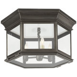 Club Large Hexagonal Flush Mount - Luxury Lighting By Greige