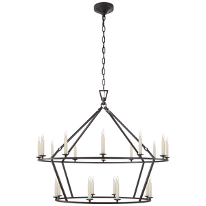 Darlana Large Two-Tiered Ring Chandelier - Luxury Lighting By Greige