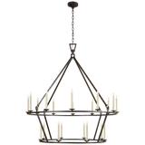 Darlana Extra Large Two-Tier Chandelier - Luxury Lighting By Greige