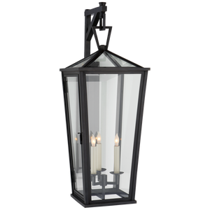 Darlana Large Tall Bracketed Wall Lantern - Luxury Lighting By Greige