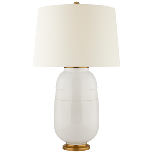 Newcomb Medium Table Lamp in Ivory with Natural Percale Shade