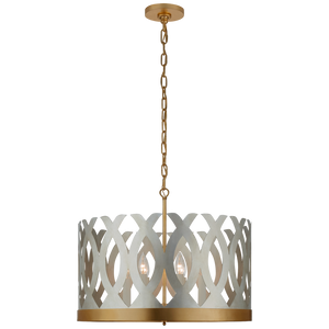 Ingrid Chandelier in Burnished Silver Leaf and Gild