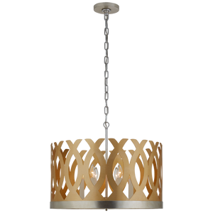 Ingrid Chandelier in Gild and Burnished Silver Leaf