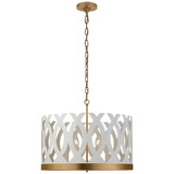 Ingrid Chandelier in Matte White and Gild