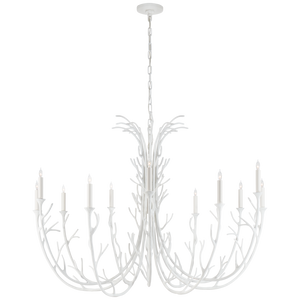 Silva Grande Chandelier in Plaster White