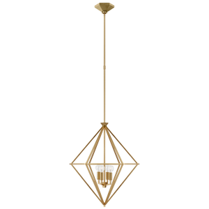 Afton Small Elongated Lantern in Gild