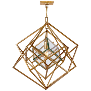 Cubist Small Chandelier - Luxury Lighting By Greige