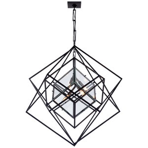 Cubist Medium Chandelier - Luxury Lighting By Greige