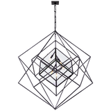 Cubist Large Chandelier - Luxury Lighting By Greige