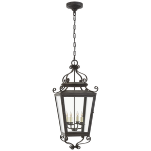 Lafayette Large Hanging Lantern - Luxury Lighting By Greige