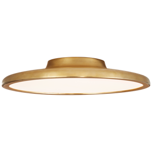 "Dot 16"" Flush Mount in Natural Brass"