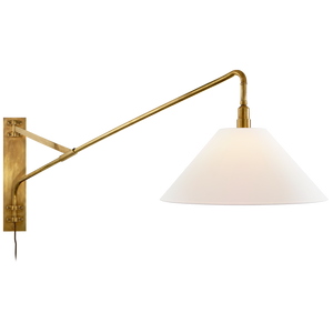 Brompton Large Extension Swing Arm Sconce - Luxury Lighting By Greige