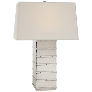 Bleeker Large Paneled Table Lamp - Luxury Lighting By Greige