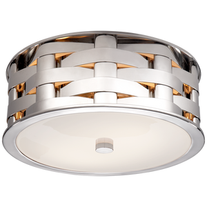 Ella Woven Small Flush Mount - Luxury Lighting By Greige