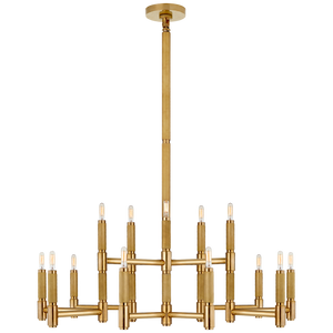 Barrett Large Knurled Chandelier - Luxury Lighting By Greige