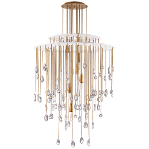 Hailee Medium Sculpted Chandelier - Luxury Lighting By Greige