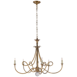 Double Twist Large Chandelier in Hand-Rubbed Antique Brass