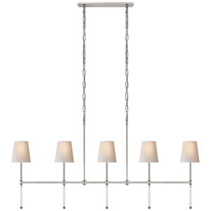 Camille Medium Linear Chandelier - Luxury Lighting By Greige