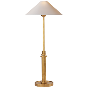 Hargett Buffet Lamp in Hand-Rubbed Antique Brass with Natural Paper Shade