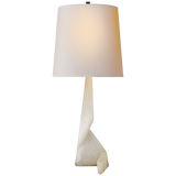 Tina Table Lamp in Alabaster with Natural Paper Shade