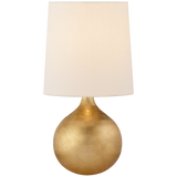 Warren Mini Table Lamp in Gild with Linen Shade