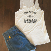 Load image into Gallery viewer, The Future is Vegan Tank Top (White)