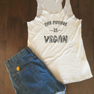 The Future is Vegan Tank Top (White)
