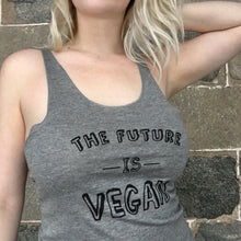 Load image into Gallery viewer, The Future is Vegan Tank Top (Grey)