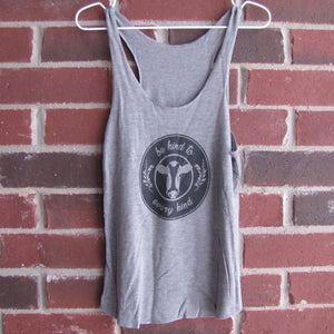 Be Kind to Every Kind Tank Top (Grey)