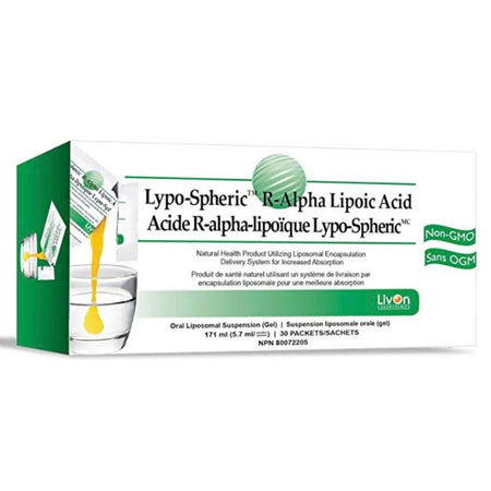 LivOn Laboratories Lypo-Spheric R-ALA Supplement 30 Packets