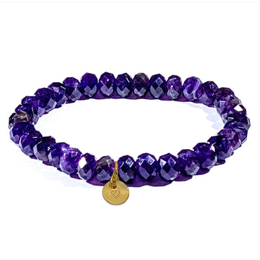 Amethyst Faceted Bracelet