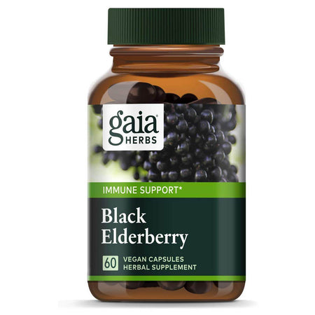 Gaia Herbs, Black Elderberry, Organic Sambucus Elderberry Extract