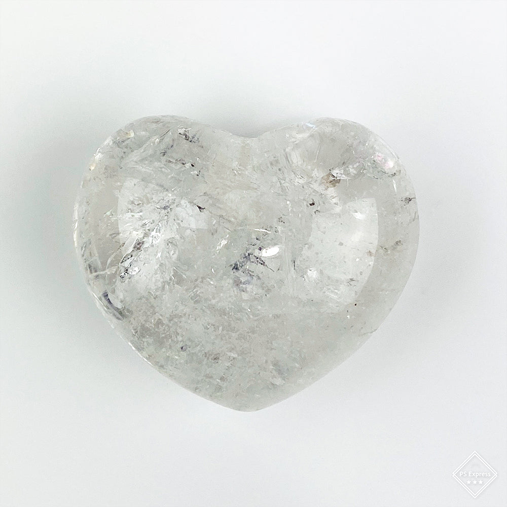 Puffy Clear Quartz Heart
