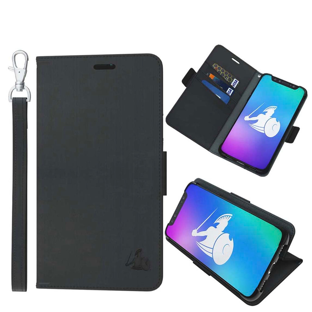 DefenderShield Compatible iPhone 11 5G & EMF Radiation Protection Case - Detachable Magnetic Anti Radiation Shield & RFID Blocker Wallet Case w/Wrist Strap